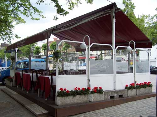 auvent, restaurant, patio