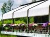 auvent, entrée, restaurant , terrasse