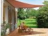auvent, patio, maison, toile