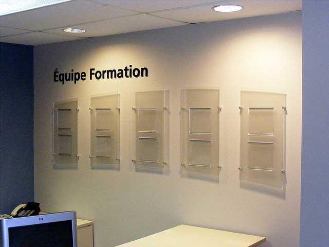 Logos et signalisations, bureaux
