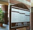 Logos et signalisations, plan édifice, bureaux